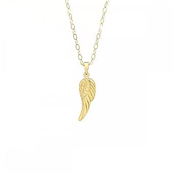 Evigheden 9ct guld engel fløj vedhæng og 16 ' ' kæde