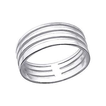 منقوشة - 925 الجنيه الاسترليني خواتم عادي الفضة - W26833X