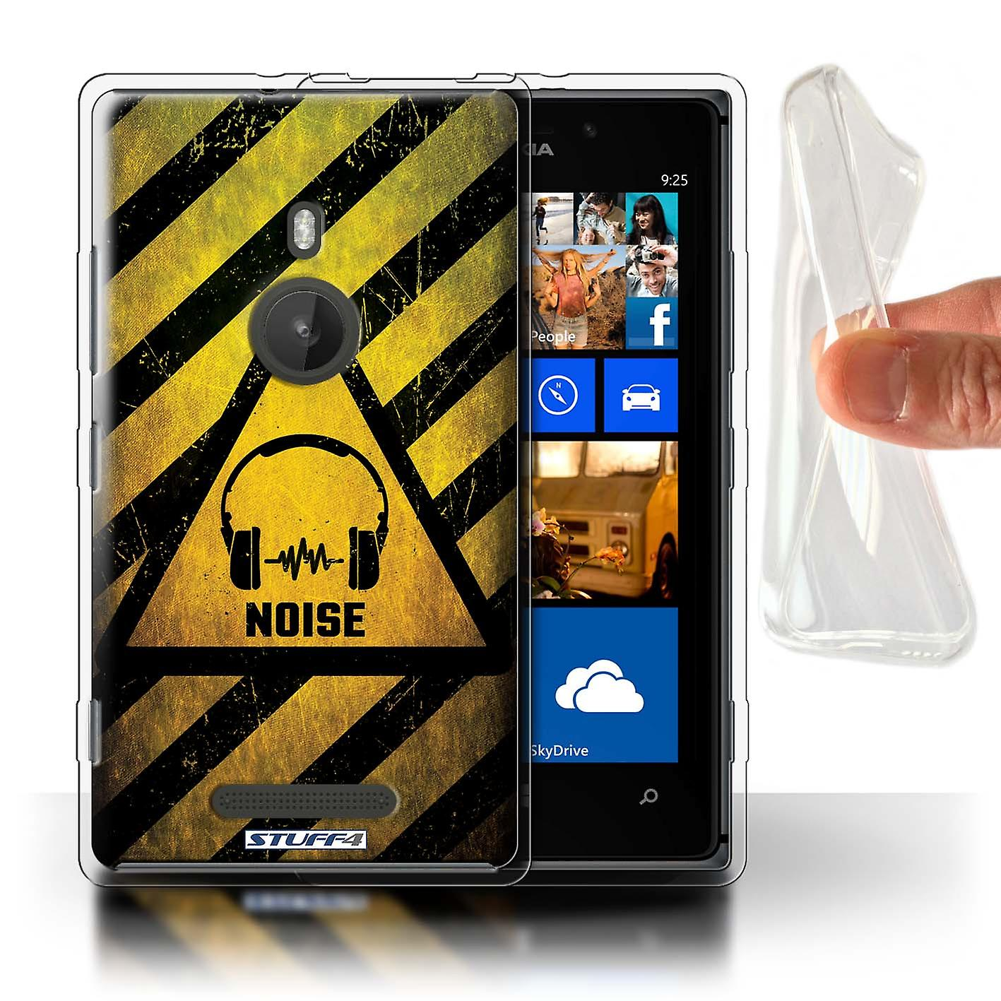STUFF4 Gel TPU Case/Cover for Nokia Lumia 925/Noise/Music/Hazard Warning Signs