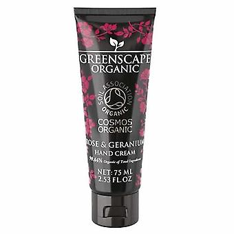 Rose and Geranium Greenscape Organic Hand Cream 75ml