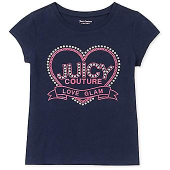 Juicy Couture Girls' Big Fashion Tee, Navy, X-Large, Navy, Size X-Large (16)