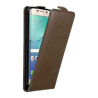 Futerał Cadorabo do obudowy Samsung Galaxy S6 EDGE PLUS - obudowa na telefon w klapce z magnetycznym zapięciem - Etołka Osłona etui Ochronna Book Folding Style