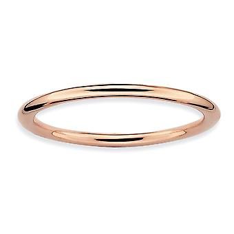 925 Sterling Silver Stackable Expressions Pink banhaded Ring Jewely Gifts for Women - Ring Size: 5 to 10