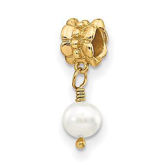 925 sterling sølv polert gp refleksjoner ferskvann kultivert perle dingle perle sjarm anheng halskjede smykker gaver f