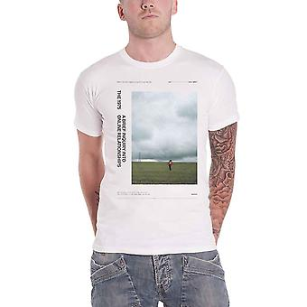 The 1975 T Shirt A Brief enquiry Side Fields Band Logo new Official Mens White