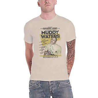 Muddy Waters T Shirt Peppermint Lounge Show Poster new Official Mens Sand