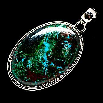 Chrysocolla 925 Sterling Silver Pendant 2 1/4
