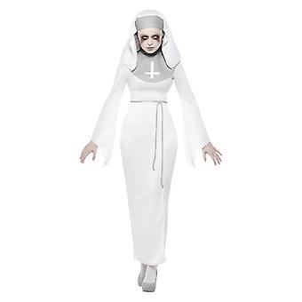 Naisten Haunted Asylum nunna Halloween Fancy mekko puku