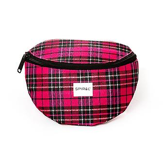 Spiral Pink Plaid Bum Bag