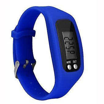 Step counter Pedometer clock model comfortable to wear-dark blue