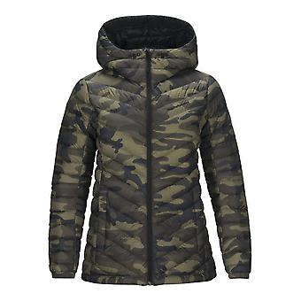 Peak Performance Womens Frost Down Hooded Printed Jacket