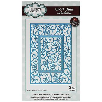 Creative Expressions CED7103 Scattered Leaves Background Dies