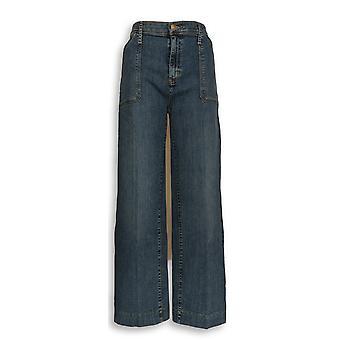Isaac Mizrahi Live! Damen's Jeans TRUE DENIM Breites Bein Blau A302220