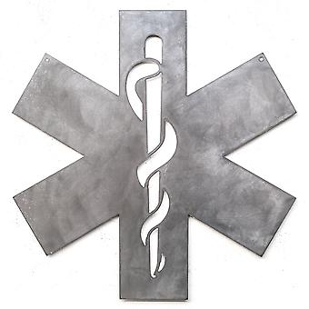 Paramedicus-Metal cut teken 15x15in