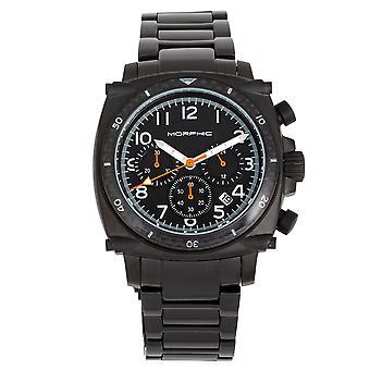 Morphic M83 Series Chronograph Bracelet Watch w/ Date - Black