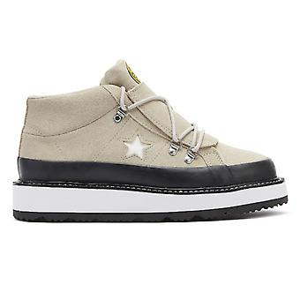 Converse One Star Fleece Lined Womens Papyrus Taupe Boots