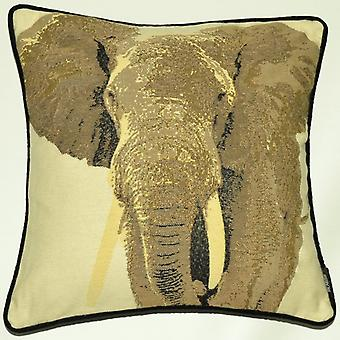 Mcalister textiles tapestry grey elephant cushion