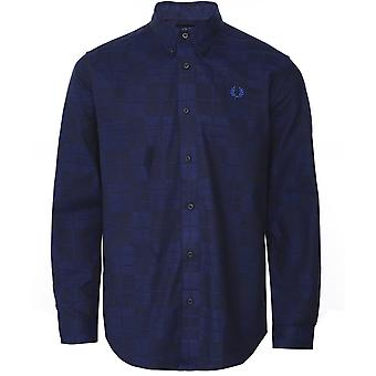 Fred Perry Tonal Tartan Camisa M7594 B41