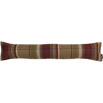 Mcalister textiles heritage tartan purple + green fabric draught excluder
