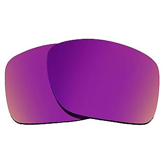 SEEK Replacement Lenses Compatible for Oakley TURBINE Polarized Purple Mirror