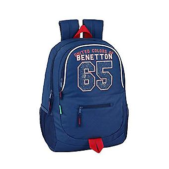 Safta Benetton Casual Backpack - 44 cm - Blue (Azul)