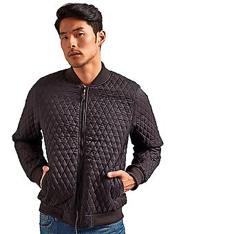 Outdoor Look Mens Quilted Flight Slim Fit Bomber Jacket