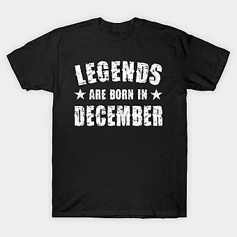 Legends are born in december half sleeves t-shirt