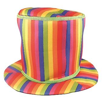 Bristol Novelty Rainbow Top Hat (soft)