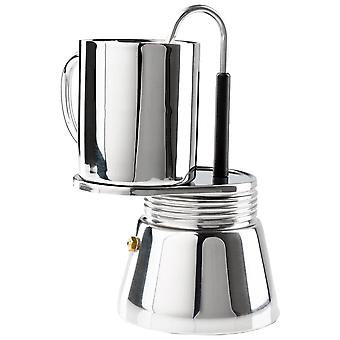 GSI Outdoors Silver Mini Espresso Set 4 Shot Includes Cup