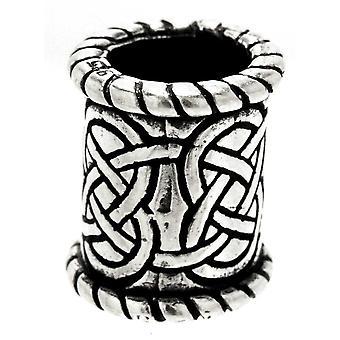 Beard bead celine knot 8 mm - silver