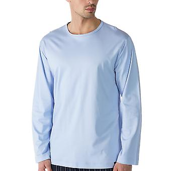 Mey Men 20440-188 Men's Lounge Blue Cotton Pyjama Top