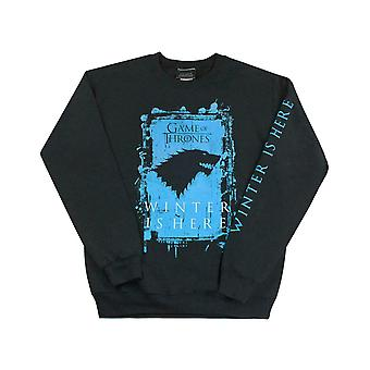 Game Of Thrones Winter Is Here Men-apos;s Adultes Sweatshirt noir