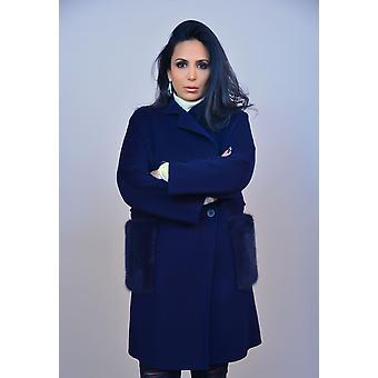 Manteau Bleu Marine Sam-rone Femme MIGO