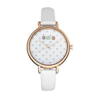 Crayo Dot Strap Watch - White