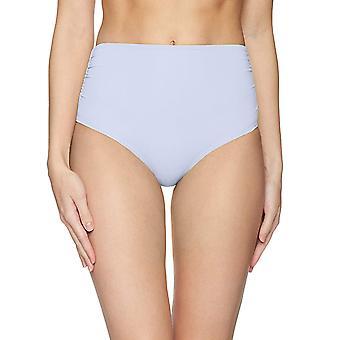 Anne Cole Mujeres's Alta Cintura para doblar sobre el bikini rrojo, azul, tamaño grande