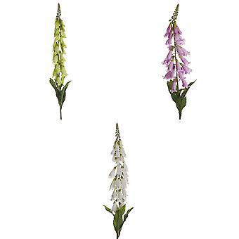 Hvit Foxglove Kunstig blomst