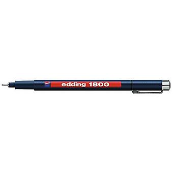 edding-1800 profipen 0.1 الأسود 10PC 0,25 مم / 4-180001001