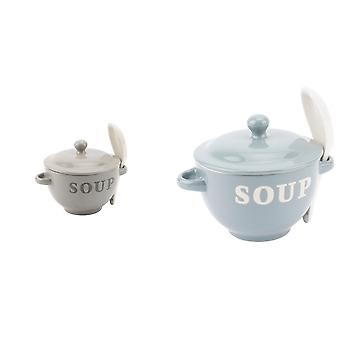 CGB Giftware Soup Bowl With Spoon