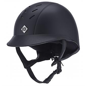 Charles Owen Ayrbrush ridning hjelm-navy blå