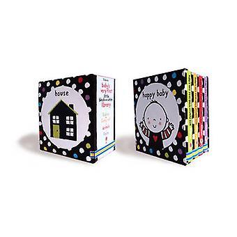 Baby ' s molto primo bianco e nero piccolo biblioteca scatola set di stella BA