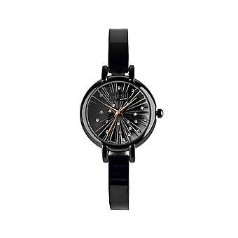 Eton Women's Bracelet Watch, Star Burst Stone Set Dial - 3208J-BK