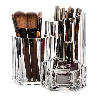 OnDisplay Acrylic Cosmetic and Makeup Brush Desktop Organizer