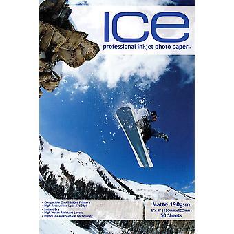 "ICE Pre-Cut 6""x4"" Photo Card - Inkjet Printing Paper - Matte 190gsm - Professional Premium Photographic Paper"