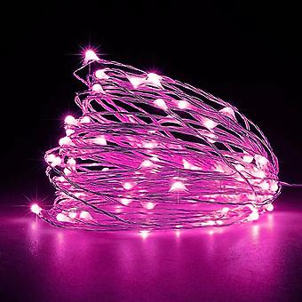 Adjustable copper wire LED light string