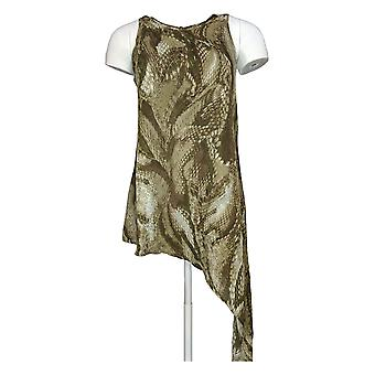 G.I.L.I. got it love it Women's Top Sleeveless Snake Printed Green A265084
