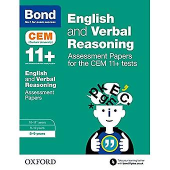 Bond 11+ English and Verbal Reasoning Assessment Papers for the CEM 11+ tests: 8-9 years