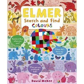 Elmer Search and Find Colours de David McKee
