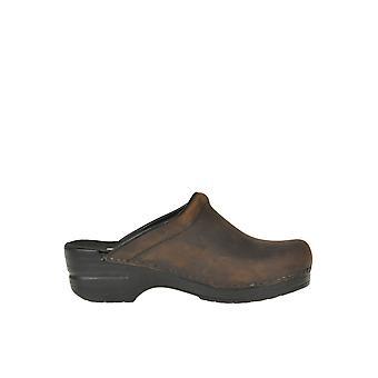 Dansko Ezgl296023 Femmes-apos;s Brown Leather Slippers