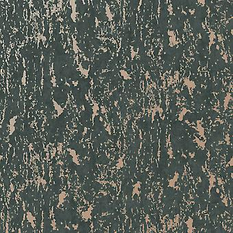 Superfresco Milan Wallpaper Charcoal / Rose Gold Graham and Brown 107969