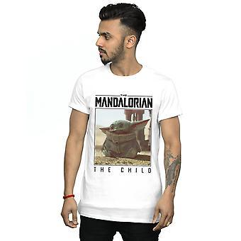 Star Wars Uomini's Il mandaloriano Il Bambino Telaio T-Shirt